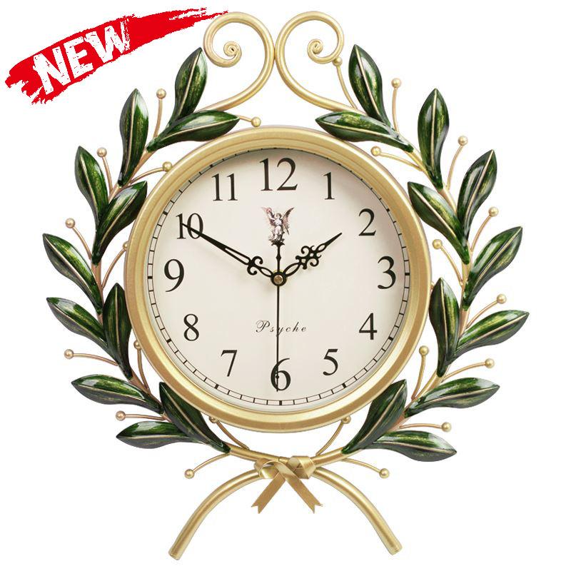 艺术品美式复古创意时尚时钟钟表个性约挂钟家用客厅石英钟,可领取元淘宝优惠券