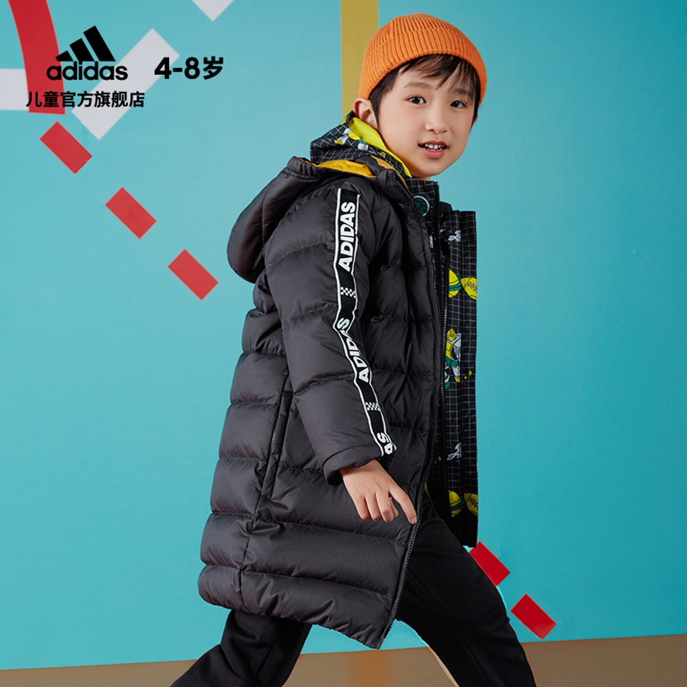 Adidas official website adidas children's winter training down jacket EH4134 EH4135