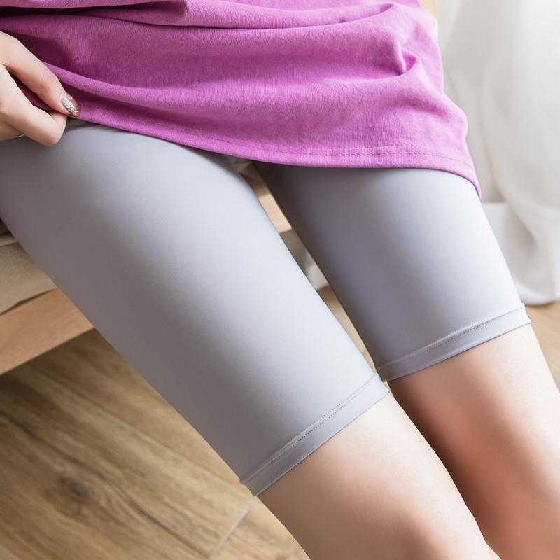 夏季五分冰丝打底裤女外穿韩版薄款弹力短裤瑜伽防走光紧身安全裤