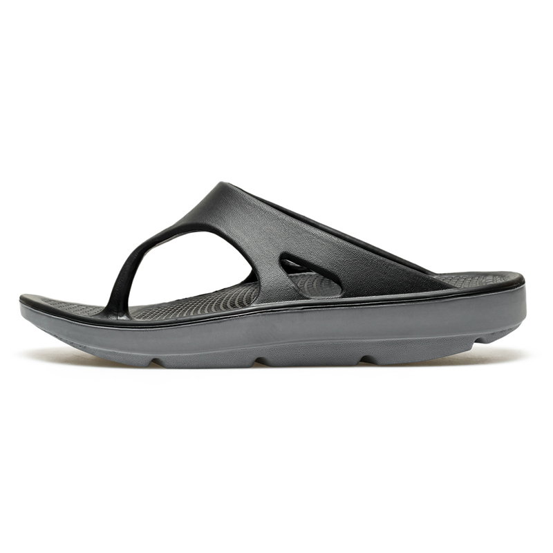 Flip flop mens summer shock absorption arch support thick soled beach shoes large size sports recovery slip resistant slippers