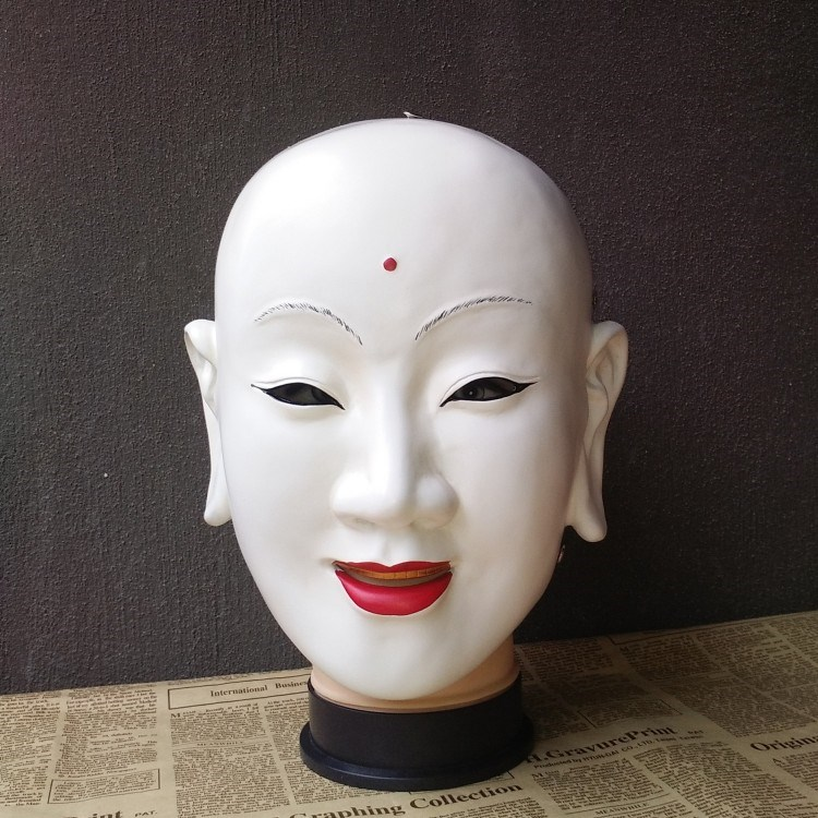 Hot pot hero mask cos film and television role play props monk Tang Shitu Wukong Bajie resin package