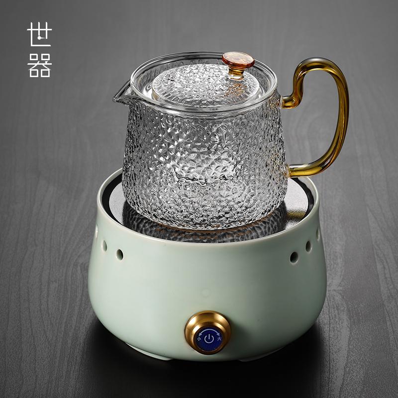 全自动电陶炉煮茶器套装家用普洱黑茶可煮玻璃蒸煮茶壶蒸汽煮茶炉不包邮