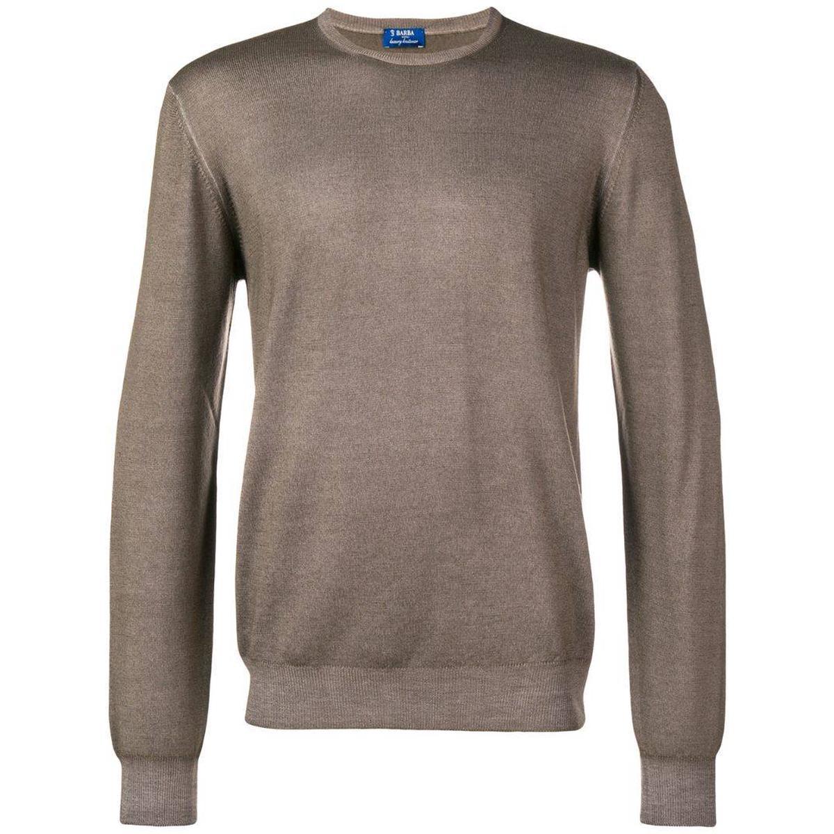 代购Barba Napoli 基本款毛衣2021新款奢侈品商务休闲针织衫中性