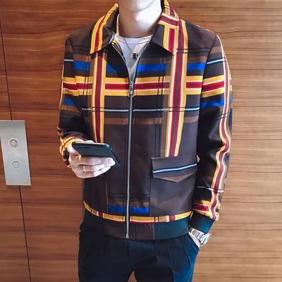 2018秋季男士夹克韩版修身个性社会小伙夜场服装外套潮JK06-P110