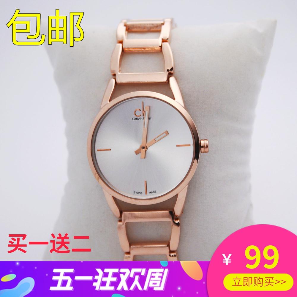 2020新款镂空玫瑰金手表女手镯休闲石英钢带简约防水生日同款腕表