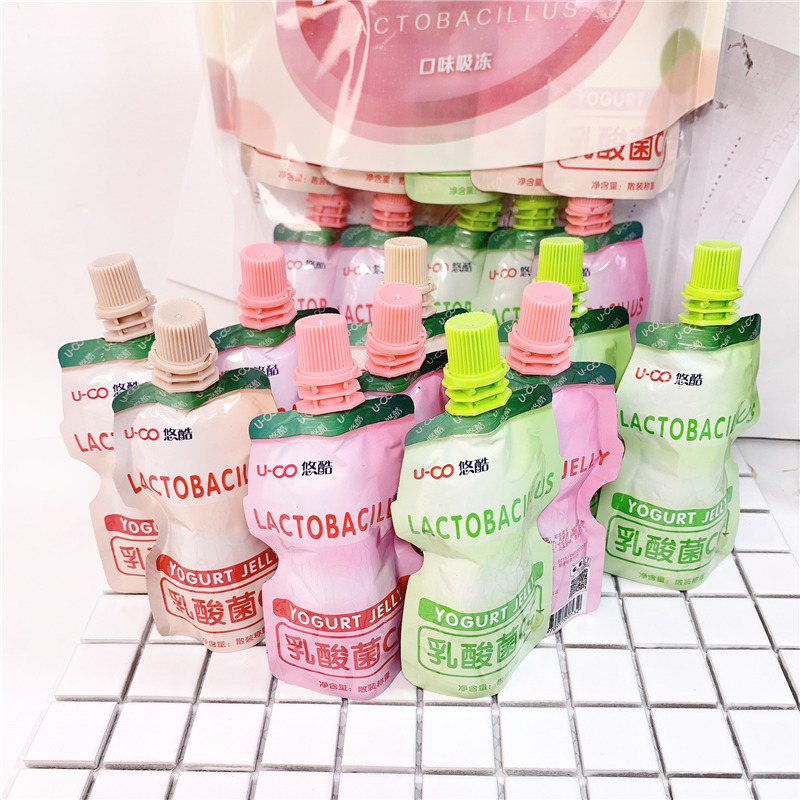 Youku Lactobacillus mixed flavor CC flavor beverage 700g, 10 bags of sucking jelly pudding for childrens snacks
