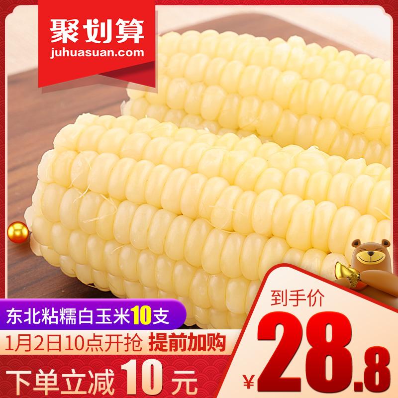 谷田记东北粘糯即食白玉米棒真空10支装非转基因甜黏新鲜代餐粗粮