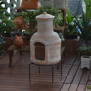 暖暖半岛 秋日私语 红陶花园烧烤炉装饰壁炉落叶焚烧炉别墅摆件