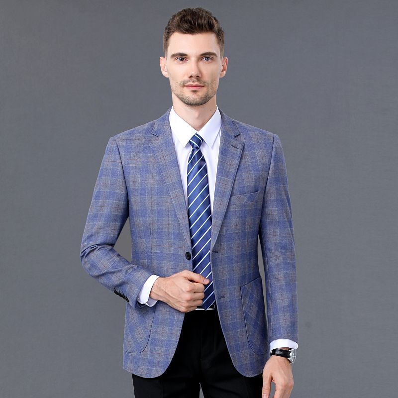 [comfortable fit] mens woollen jacket spring and autumn suit for men