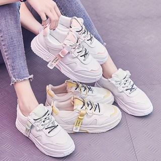 怡安踏雪春季运动女鞋2020年新款百搭平底小白板鞋春夏季网面透气