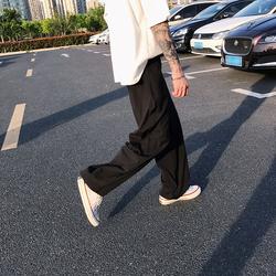阔腿裤男超薄款休闲裤韩版超凉快透气宽松直筒长裤C205A-DK25-P40