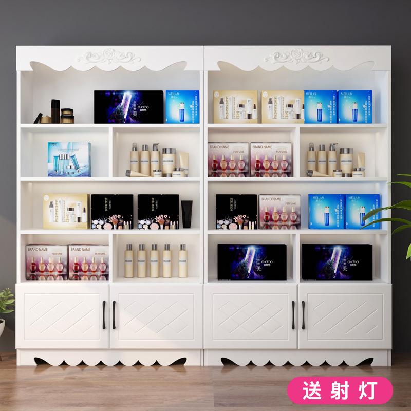 化妆品店美容院美颜秘笈彩妆柜台专柜展示柜小型试妆台简约现代