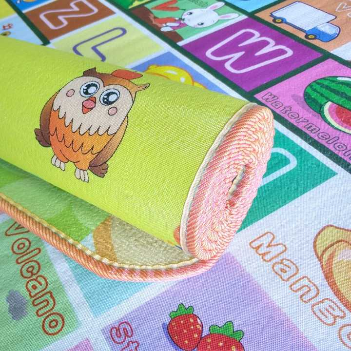 婴儿爬爬垫双面爬行垫,隔热防潮随机发多种规格图案爬爬垫