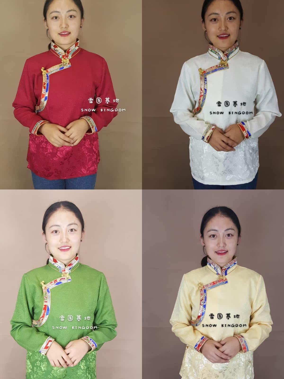 苏拉克夏西藏女士镶边包边锅庄舞蹈衬衣藏装藏袍藏族藏服西藏民族