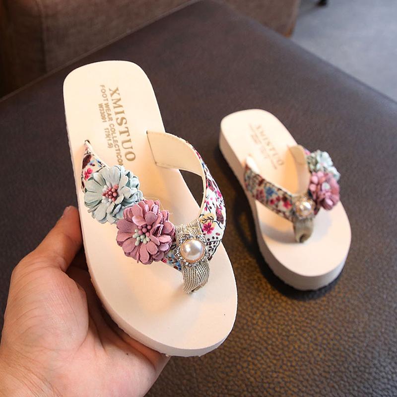儿童拖鞋女夏时尚外穿可爱防滑软底亲子沙滩鞋公主人字拖室内凉拖