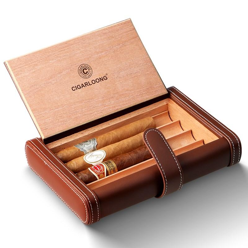 防虫盒纯雪松木雪茄保湿盒保湿箱便携式大容量制作加湿烟盒子恒温 Изображение 1