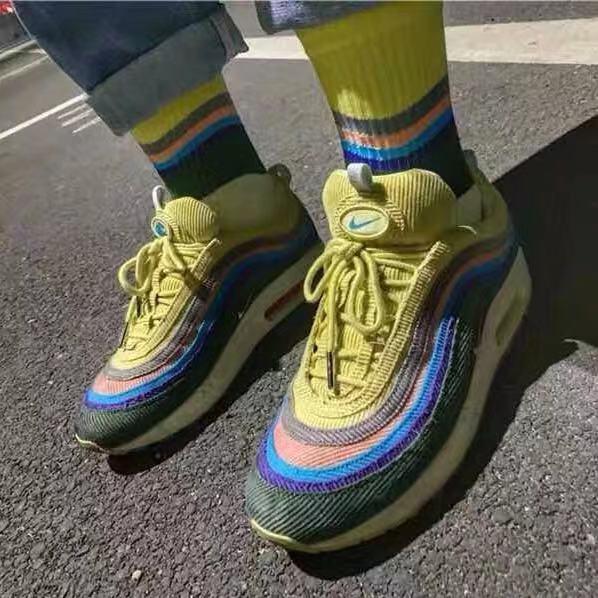 airmax97上海限定万花筒袜子夏季薄中长高帮跑步欧文网篮球运动袜