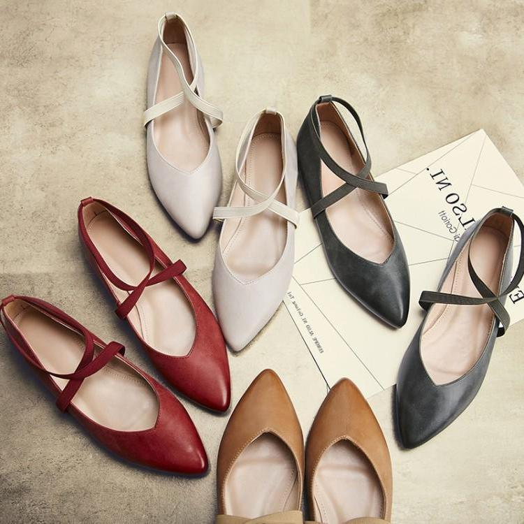 High end fashion retro flat shoes 2021 new single shoes pointed shallow mouth scoop shoes soft leather granny shoes ballet shoes