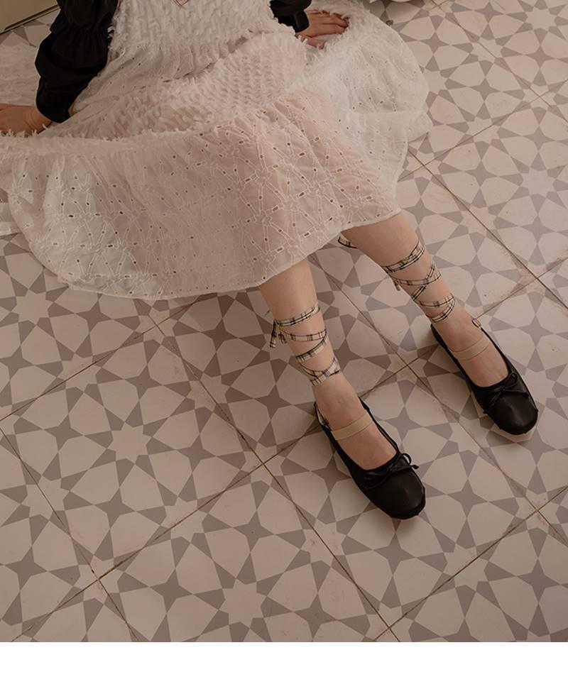 得足少女/秋季新款芭蕾舞鞋绑带单鞋女平底圆头浅口甜美仙女鞋.