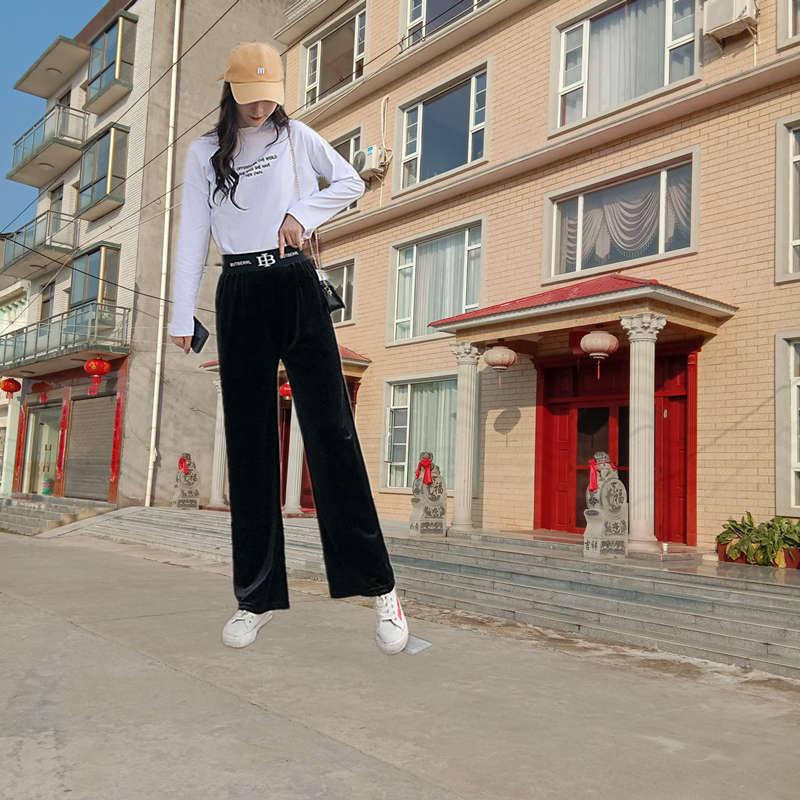 阔腿裤女高腰春秋装垂感显瘦黑色百搭西装裤直筒宽松拖地休闲裤子