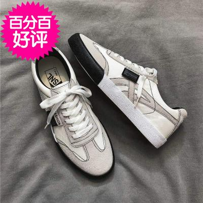 . Spring and autumn canvas shoes mens low top Korean fashion shoes ins junior high school students board shoes casual shoes single shoes