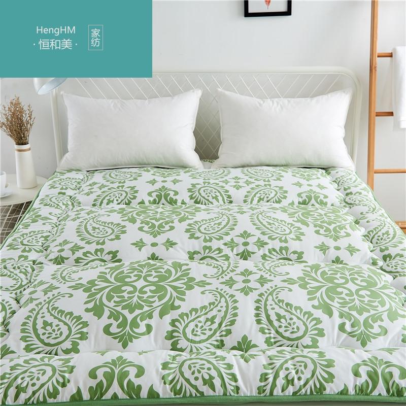 恒和美欧式古典全棉竹炭棉夹棉床褥床垫家用防滑席梦思床护垫可折,可领取100元天猫优惠券