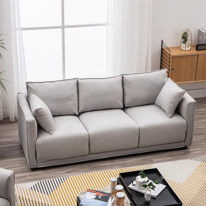 北欧现代简约小户型布艺拆洗沙发10月21日最新优惠