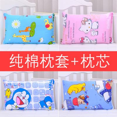 枕芯+枕套 儿童枕头1-3-6岁幼儿园宝宝定型枕 护颈防偏头全棉卡通
