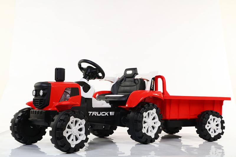 儿童电动手扶拖拉机可坐四轮玩具车