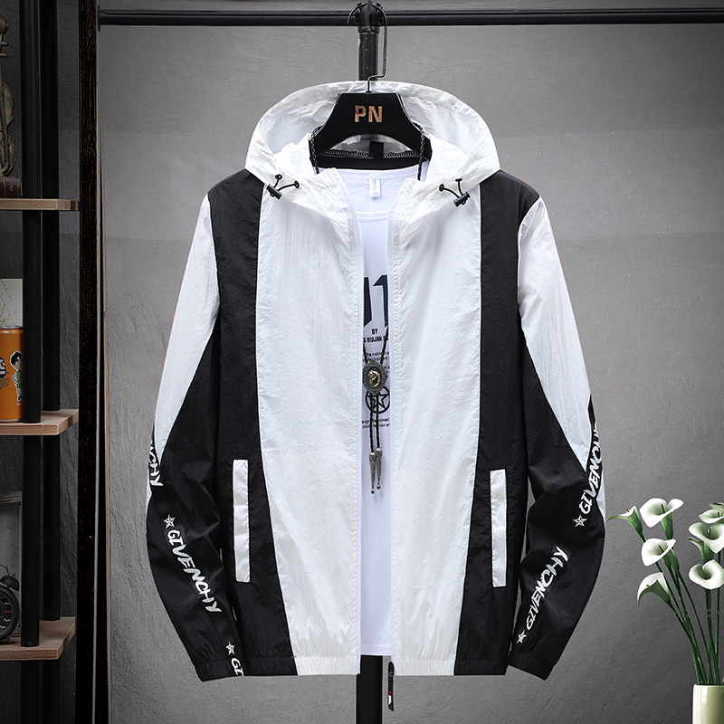 Sun proof clothes mens coat summer thin loose work jacket Korean fashion handsome ultra thin breathable sunscreen clothing