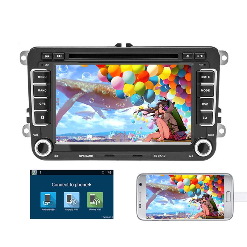 跨境电商新品7寸大众通用机安卓车载DVD导航一体机GPS 热卖
