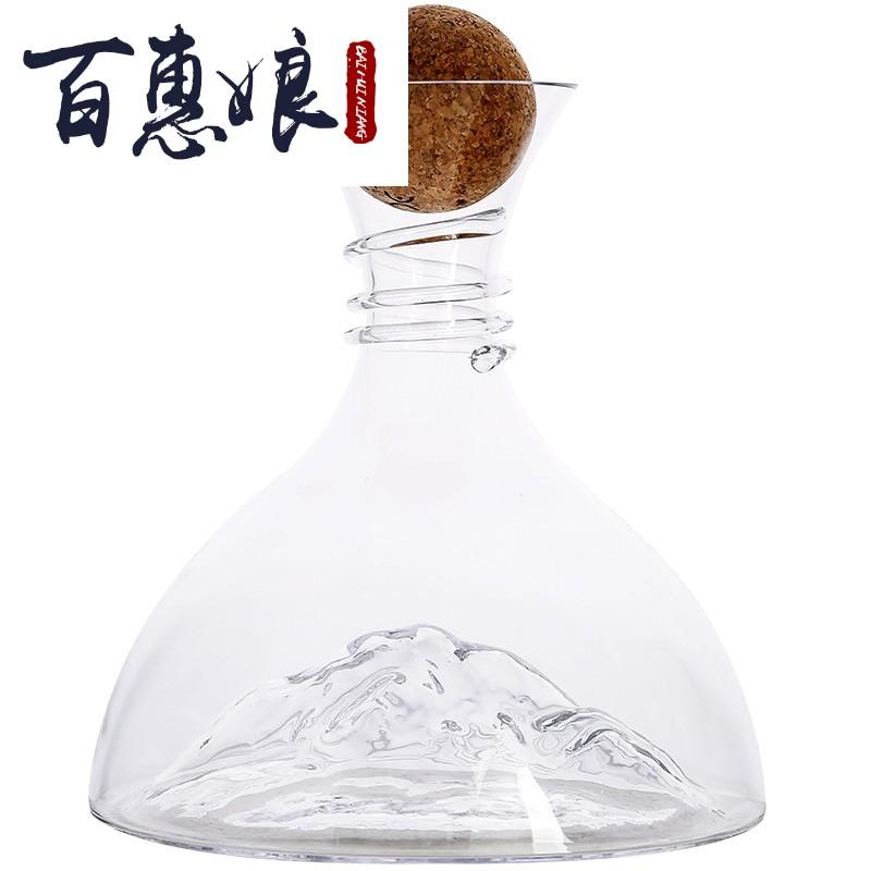 百惠娘Iceberg冰山水晶玻璃红酒醒酒器 家用快速红酒醒酒器葡萄酒