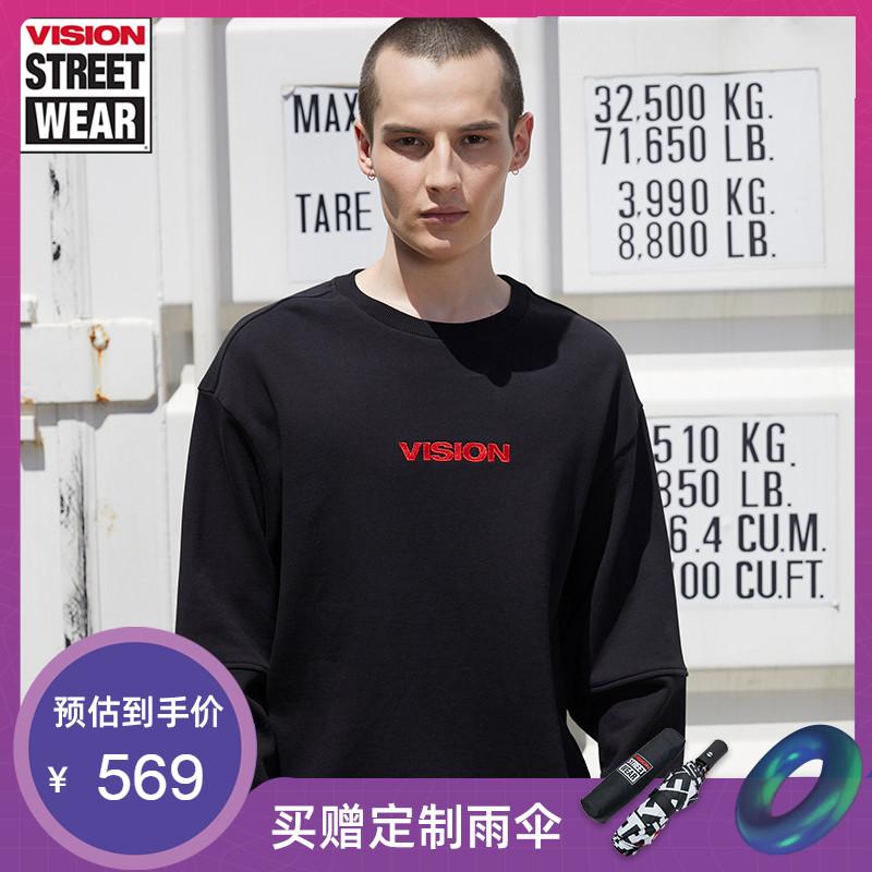 VISION STREET WEAR2019新款科幻主题印花情侣卫衣男女V193NB1014