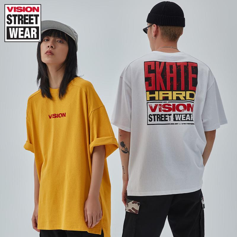 VISION STREET WEAR男女同款滑板LOGO印花短袖T恤 V202NC2039