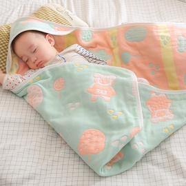 初生婴儿抱被产房包巾新生儿包被春秋纯棉纱布夏季薄款宝宝小被子图片