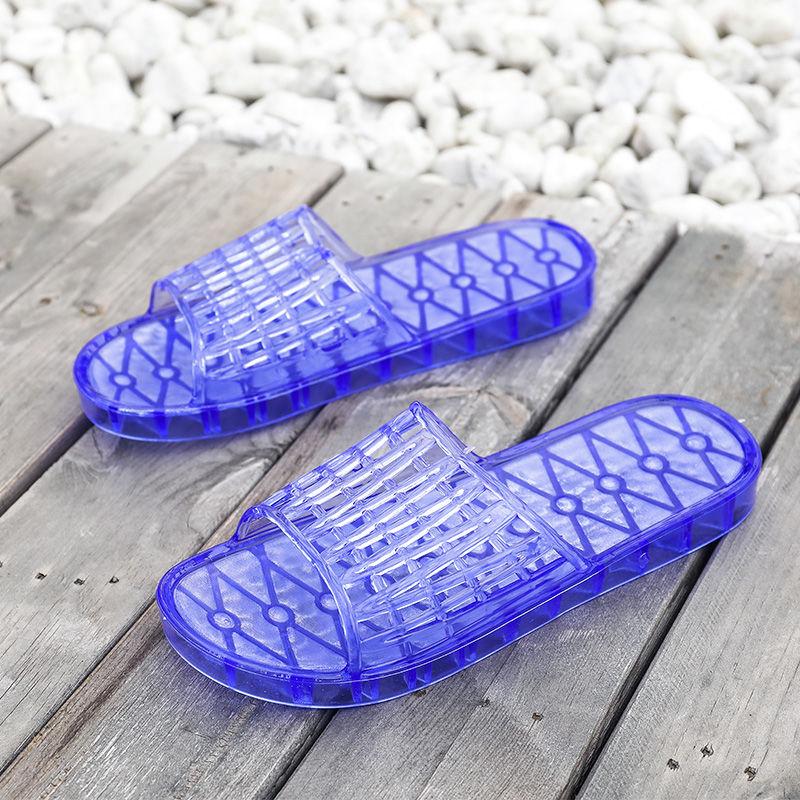女人拖鞋夏室内居家浴室拖鞋塑料防滑软底外穿果冻透明水晶凉拖鞋