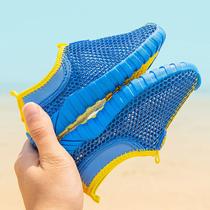 男童鞋子2019新款春款网面软底透气男孩单网鞋小童夏季儿童运动鞋