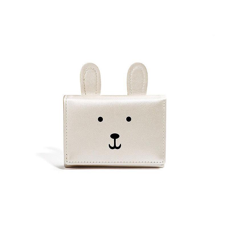 折叠式钱包短款可爱小巧超薄女士卡钱包一体超萌简约时尚2020新款