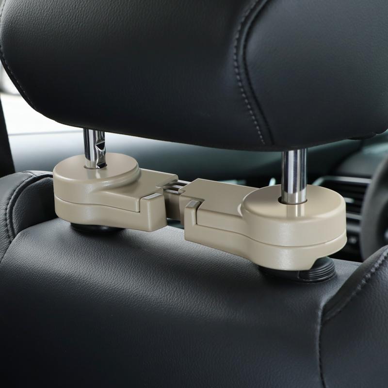 车载隐形挂钩汽车座椅背多功能双勾车内用品后座位靠背创意小挂钩