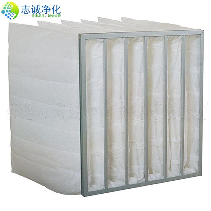 F5级中效袋式过滤器镀锌框铝框过滤袋空调无纺布定制定做净化