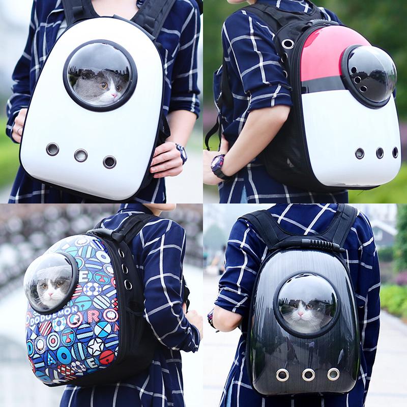 Cat bag out portable space capsule cat backpack double shoulder cat supplies double shoulder cat bag pet cat schoolbag winter