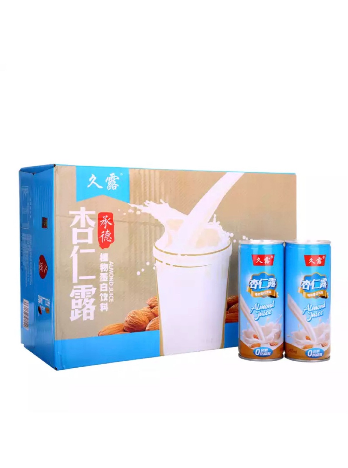 Chengde jiulu, almond dew, easy to pull cans, beverages, whole box, 24 nutritious products, gift food, gift bag, elder package, mail