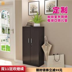 门外电梯口小鞋柜带锁室外走廊用楼道防盗超薄家用放在家门口定制