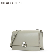 Charles & Keith small square bag ck2-20780763 metal ring buckle women's flip messenger bag