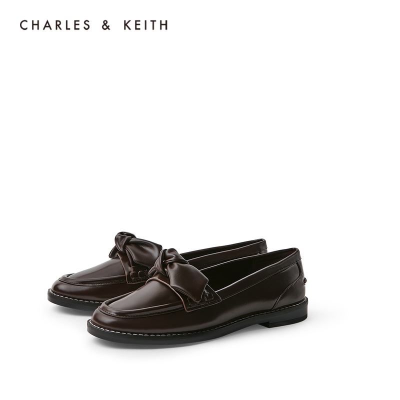 CHARLES&KEITH2020 Autumn New Products CK1-70380800 Ladies Bow Decorated Low Heel Loafers