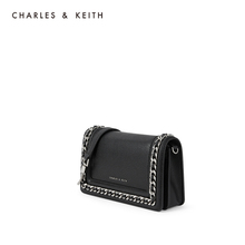 Charles & keith2020 summer new product ck2-71200006-3 women's metal chain flip shoulder bag