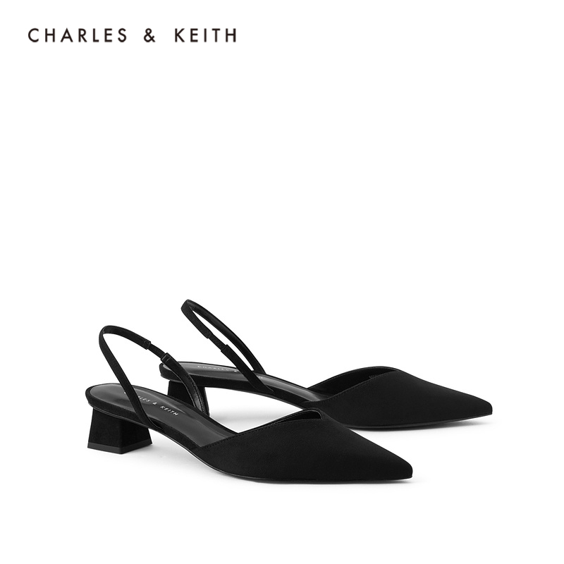 Hot Return Charles & Keith2021 Summer New CK1-60580194 Ms. Medium Sandals