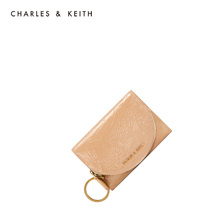Charles & Keith women's bag in autumn and winter ck6-10770391 women's short purse with wrinkled decoration