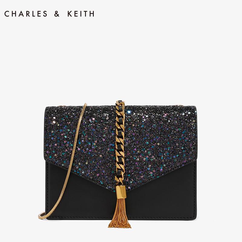 流苏装饰单肩链条小方包20160030CK2信封包KEITH&CHARLES
