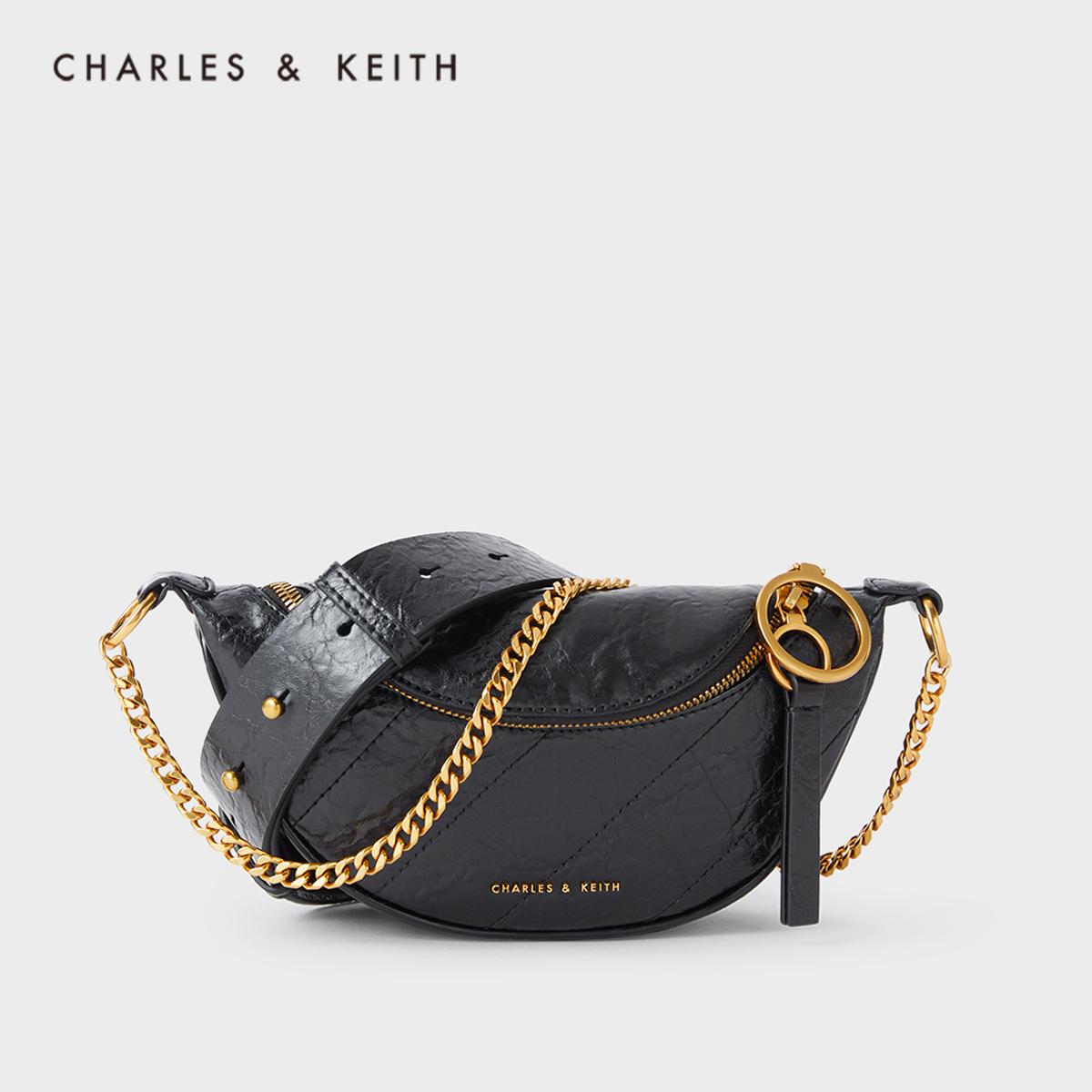 女士链条单肩斜挎包胸包180150954CK2秋新品KEITH2020&CHARLES